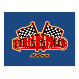 Indianapolis Flagged Postcard