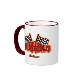 Indianapolis Flagged Ringer Mug