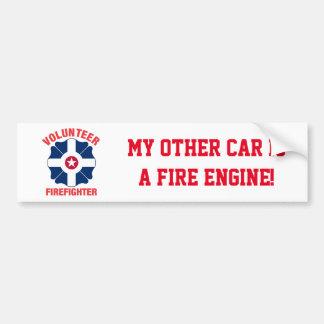 Indianapolis, IN Flag Volunteer Firefighter Cross Bumper Sticker