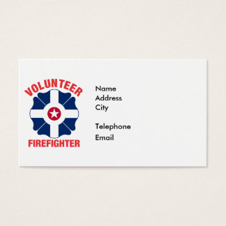 Indianapolis, IN Flag Volunteer Firefighter Cross Business Card