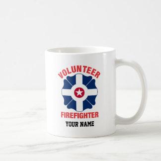 Indianapolis, IN Flag Volunteer Firefighter Cross Coffee Mug