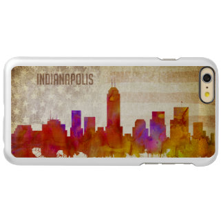 Indianapolis, IN | Watercolor City Skyline Incipio Feather Shine iPhone 6 Plus Case