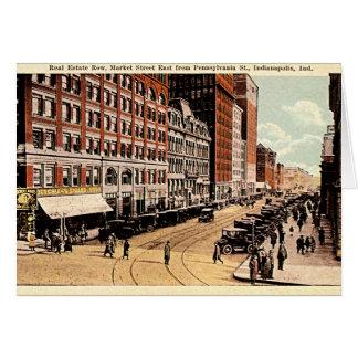 Indianapolis, Indiana 1915 céntrico Tarjeta De Felicitación