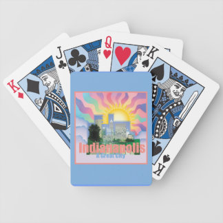 INDIANAPOLIS Indiana Bicycle Playing Cards