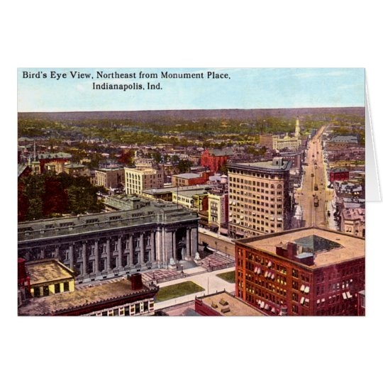 Indianapolis Indiana Birdseye View Northeast Card