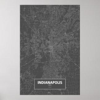 Indianapolis, Indiana (blanca en negro) Póster