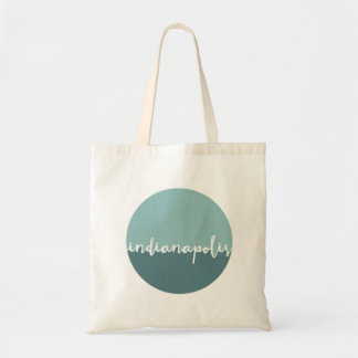 Indianapolis, Indiana | Blue Ombre Circle Tote Bag