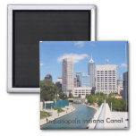 Indianapolis Indiana Canal 2 Inch Square Magnet