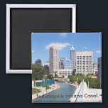 """Indianapolis Indiana Canal Magnet<br><div class=""""desc"""">Indianapolis,  Indiana Magnet</div>"""