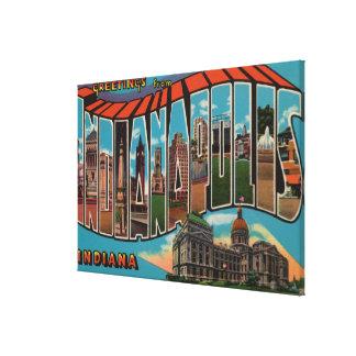 Indianapolis, Indiana (Capital Building) Canvas Prints