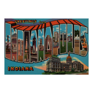 Indianapolis, Indiana (Capital Building) Posters