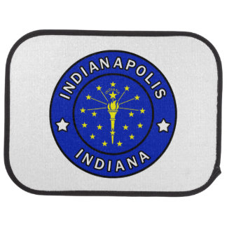 Indianapolis Indiana Car Floor Mat