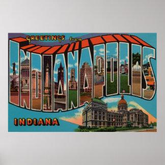 Indianapolis, Indiana (edificio capital) Póster
