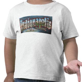 Indianapolis, Indiana - escenas grandes 3 de la le Camiseta