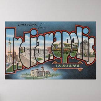 Indianapolis, Indiana - escenas grandes 4 de la le Póster