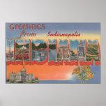 Indianapolis, Indiana - escenas grandes de la letr Poster