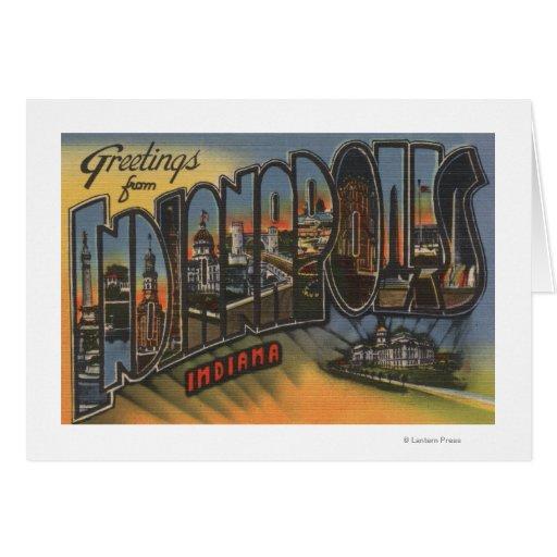 Indianapolis, Indiana - escenas grandes de la letr Felicitacion