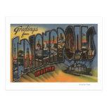 Indianapolis, Indiana - escenas grandes de la Postal