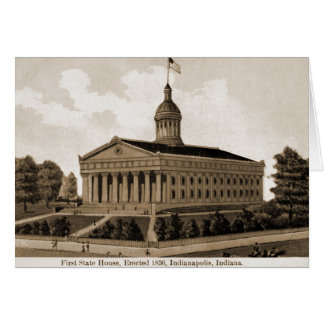 Indianapolis, Indiana First Statehouse 1836 Card