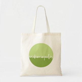 Indianapolis, Indiana | Green Ombre Circle Tote Bag