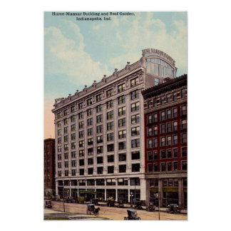 Indianapolis, Indiana Hume Mansur Building Print