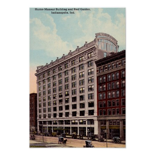 Indianapolis, Indiana Hume Mansur Building Poster