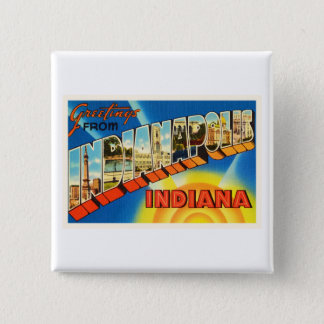 Indianapolis Indiana IN Vintage Travel Souvenir Button