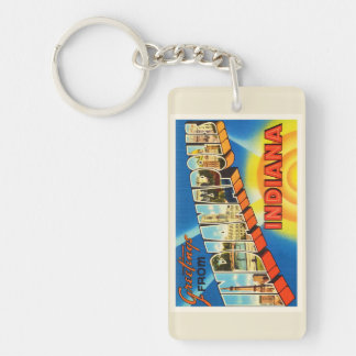 Indianapolis Indiana IN Vintage Travel Souvenir Keychain