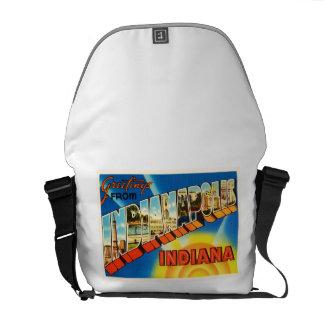 Indianapolis Indiana IN Vintage Travel Souvenir Messenger Bag