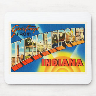 Indianapolis Indiana IN Vintage Travel Souvenir Mouse Pad
