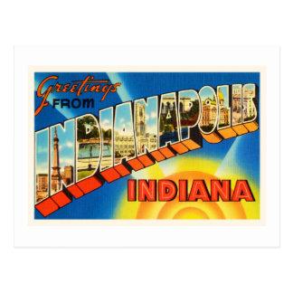 Indianapolis Indiana IN Vintage Travel Souvenir Postcard