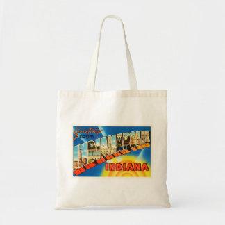 Indianapolis Indiana IN Vintage Travel Souvenir Tote Bag
