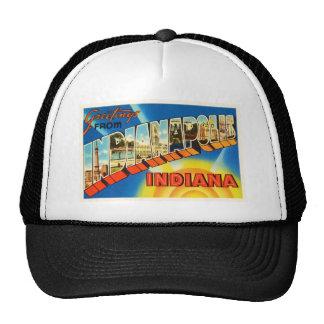 Indianapolis Indiana IN Vintage Travel Souvenir Trucker Hat