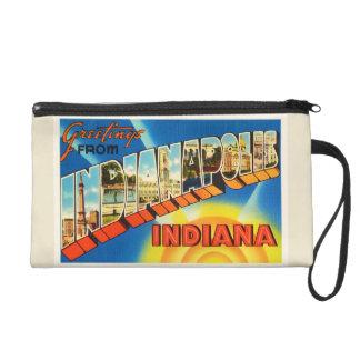 Indianapolis Indiana IN Vintage Travel Souvenir Wristlet