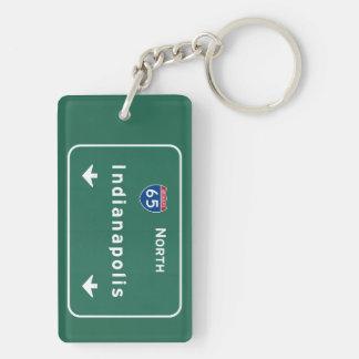 Indianapolis Indiana Interstate Highway Freeway : Keychain