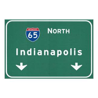 Indianapolis Indiana Interstate Highway Freeway : Photo Print