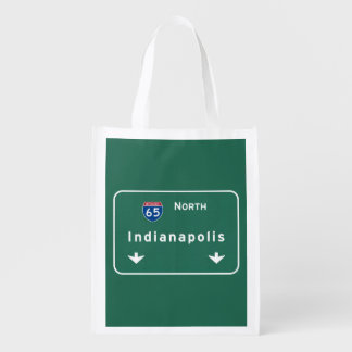 Indianapolis Indiana Interstate Highway Freeway : Reusable Grocery Bag