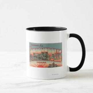 Indianapolis, Indiana - Large Letter Scenes 2 Mug