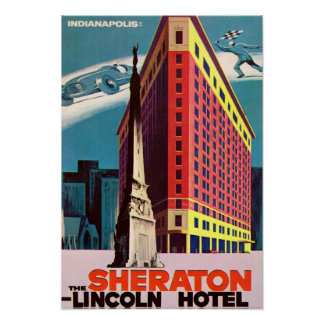 Indianapolis Indiana Lincoln Hotel Poster