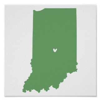 Indianapolis, Indiana Love Print