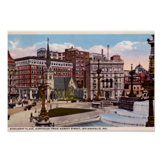 Indianapolis, Indiana Monument Circle Northeast Posters