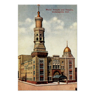 Indianapolis Indiana Murat Temple 1910 Posters