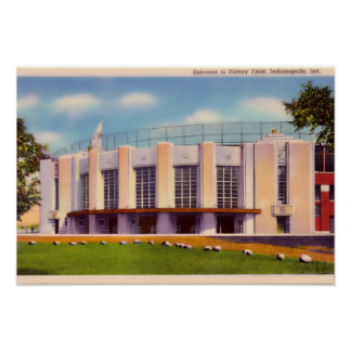 Indianapolis Indiana Old Victory Field Poster