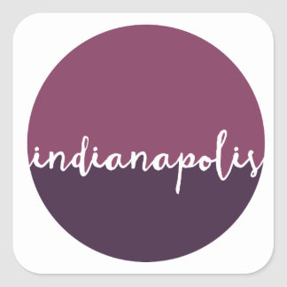 Indianapolis, Indiana | Purple Ombre Circle Square Sticker