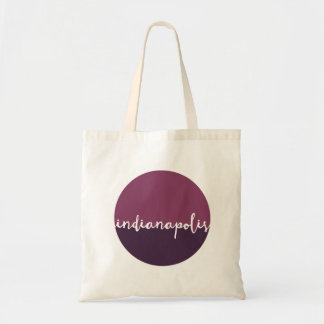Indianapolis, Indiana | Purple Ombre Circle Tote Bag