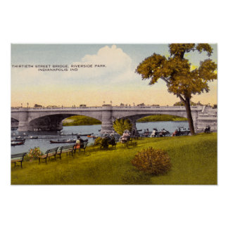Indianapolis, Indiana Riverside Park Poster