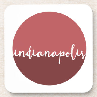 Indianapolis, Indiana | Rust Ombre Circle Beverage Coaster