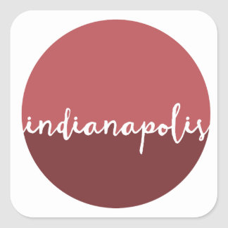 Indianapolis, Indiana | Rust Ombre Circle Square Sticker