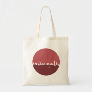 Indianapolis, Indiana | Rust Ombre Circle Tote Bag