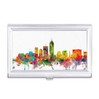 Indianapolis Indiana Skyline Business Card Holder